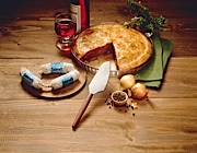 Traditional-style Grisons meat pie