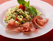 Tabbouleh with Grisons dry-cured ham